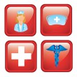 Health icons — Stock vektor
