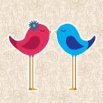 Bird couple — Stock Vector