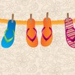 Flip flops — Stock Vector #22297107