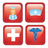 Health icons — Vettoriale Stock