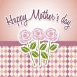 Stock vektor: Happy mothers day