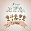 Happy mothers day — Stockvectorbeeld