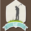 Golfer — Stock Vector