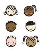 Faces of children — Stock Vector