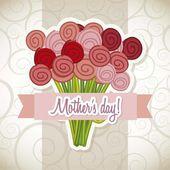 ημέρα της μητέρας ευτυχισμένη — Διανυσματικό Αρχείο
