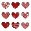 Hearts vector — Vector de stock