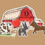 Farm Icons — Stock Vector
