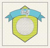 Golf illustration — Stock Vector