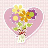 Boeket bloemen — Stockvector