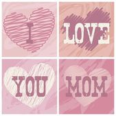 Happy mothers day — Vector de stock