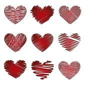 Hearts vector — Stock Vector