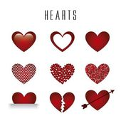 Hearts vector — Vetorial Stock