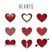 Herzen vektor — Stockvektor