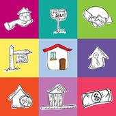 Rent Icons — Stock Vector