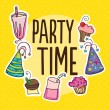 Party Time Icons — Stock Vector