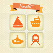Travel and Transport Icons — Stock Vector #22598821