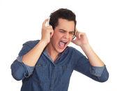 подросток прослушивания — Стоковое фото