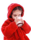 Dziecko z mlekiem — Zdjęcie stockowe