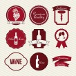 Wine labels - Stock Vector