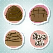Chocolate truffle — Stock Vector