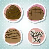 Chocolate truffle — Stock Vector