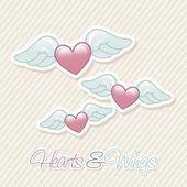 Angel wings — Stockvector