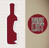 Wine bottle — Vector de stock