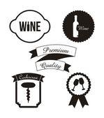Wine labels — Stock Vector