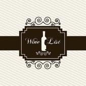 Wine card — Stock Vector