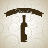 Wine bottle — Stock Vector