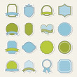 Blank labels — Stock Vector #22999656
