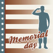Memorial day — Vector de stock #22999746