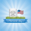 Memorial day - Stock Vector