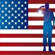 American soldier — Vector de stock #22999792