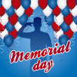 Memorial day — Vector de stock #22999800