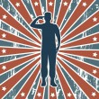 Americsoldier — Vector de stock #22999840