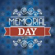Memorial day — Vector de stock #22999846