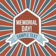 Memorial day — Vector de stock #22999862