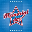 Memorial day — Vector de stock