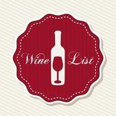 Wine label — Stock Vector