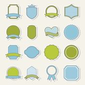 Blank labels — Stock Vector