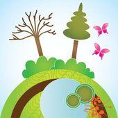 Iconos de la tierra, el planeta y la naturaleza — Vector de stock