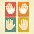Stock Vector: Hands Icons