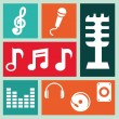 Stock Vector: Music icons