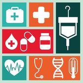 медицина значки — Cтоковый вектор