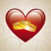 Wedding card — Stock Vector