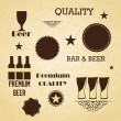 Bar Labels — Stock Vector