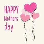 Día de la madre feliz — Vector de stock