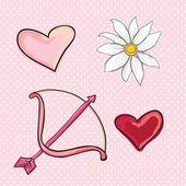 Liefde, schattig pictogrammen — Stockvector