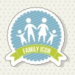 Stock Vector: Family icon